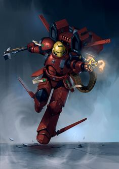 Warhammer 40k Blood Angels, Warhammer 40k Memes, Warhammer Art, Warhammer 40k Miniatures, Warhammer Fantasy, Warhammer 40000, Salamanders Space Marines, Angel Art, Concept Art