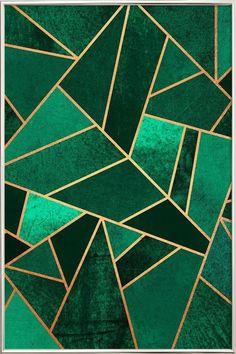 Emerald and Copper en Affiche sous cadre en aluminium | JUNIQE