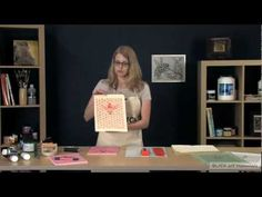▶ Linoleum Block Printing - YouTube / Always remember the pieces cut out will be the negative space. Laying the paper on top of the print is better than laying the block onto the paper