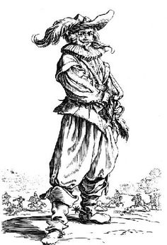 1625 Cavalier by Jacques Callot (1592-1635)