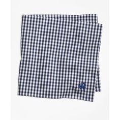 Brooks Brothers Supima® Cotton Gingham Pocket Square (27 CAD) ❤ liked on Polyvore featuring men's fashion, men's accessories, handkerchiefs and navy