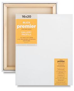 """Source for affordable canvas. Blick Premier Gallery 1-1/2"""" Profile Cotton Canvas - BLICK art materials"""