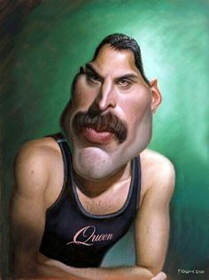 The Exhibition of Caricature by Walter Fornero/ Argentina :: Freddie Caricature Artist, Caricature Drawing, Funny Caricatures, Celebrity Caricatures, Freddie Mercury, Betty Boop, Celebrity Drawings, Funny Illustration, Funny Art