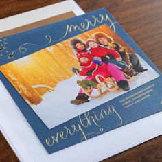 Golden Greetings Holiday Card by Checkerboard Ltd.