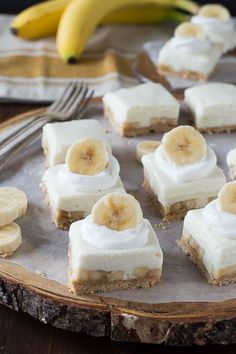 Banana Cream Bars -