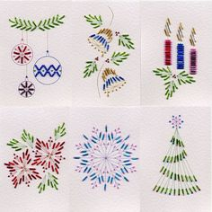 Value Pack No. 20: Xmas Beads at Stitching Cards - ePatterns for paper embroidery