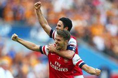 FA Cup final 13/14 - Ramsey celebrates goal