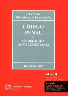 Código penal y legislación complementaria. Cívitas, 2014. D/Q/L/4 (2014). 111 préstamos ene-mar 2016