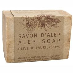 """Aleppo Soap Marius Fabre 7.1 Oz by Marius Fabre. $12.90. Alep soap from Marius Fabre. 7.05 oz Olive Oil, 12% Laurel Oil. 100% ecological soap. Plant Based.  ?Ideal for general skincare, Aleppo's """"Green gold"""" is made from olive and laurel oils whose legendary skincare properties remain unrivalled. Following ancient tradition, the soap is then dried for 9 months in the open air.     This exceptionally mild soap is cooked in cauldrons from olive oil, laurel oil and so..."""