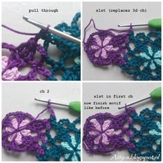 Voor Nederlands klik hier Remember my Catona Flower Shawl ? I used 48 different colors and had lots of yarn left. So I made a...