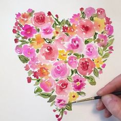 Birches, My Heart Is Breaking, Bouquets, Artsy, Bloom, Valentines, Colours, Watercolor, Wall Art