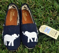 @Paige Thompson - Custom Hand Painted Elephant TOMS.  Reminded me of your love for TOMS & you're always pinning stuff about elephants  :P
