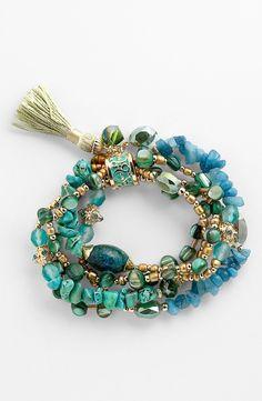 Sara Bella Bead Stretch Bracelet | Nordstrom