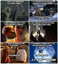 63 Ideas Funny Humor Hilarious Mind Blown Star Wars For 2019 Et Is A Jedi, Star Wars, Fan Theories, Conspiracy Theories, The Force Is Strong, Boys Playing, To Infinity And Beyond, Young Boys, Mind Blown