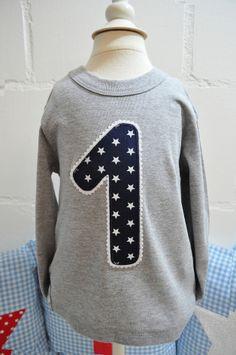 Langarmshirts - LA-Shirt ★ 1.Geburtstag ★ - ein Designerstück von lepetitmimi bei DaWanda