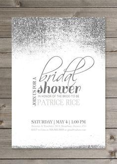 Bridal Shower Glitter Invitation PRINTABLE by GaiaDesignStudios, $12.00