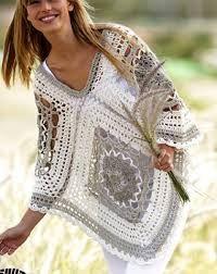 Image result for granny square boho poncho crochet FREE pattern