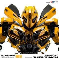 Sidewalk Toys and ThreeA in conjunction with Hasbro are excited to present, Bumblebee from Transformers: The Last Knight Premium Scale Collectible Series. Features: - Officially Licensed by Hasbro - A