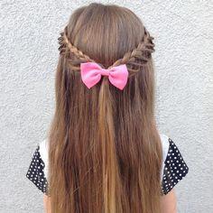 Braided Half Updo For Little Girls
