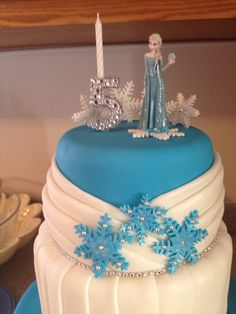 Disney frozen theme cake. Cool for any little girl - via @Craftsy