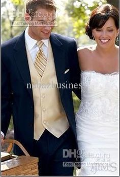 Wholesale Groom Tuxedos - Buy Custom Navy Blue Groom Tuxedos Notch Lapel Groomsmen Men Wedding SuitsJacket+Pants+Tie+VestH345, $120.61 | DHgate