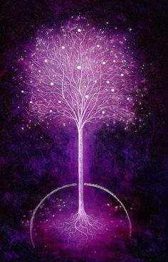 "Tree of Life / Purple: ""Majestic,"" by Mark Duffin. Purple Love, All Things Purple, Purple Rain, Tumblr Wallpaper, Illusion Kunst, Art Beauté, Ft Tumblr, Pink Lila, Tree Art"