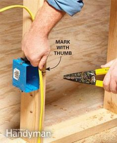 Tips for Easier Electrical Wiring - Article: The Family Handyman