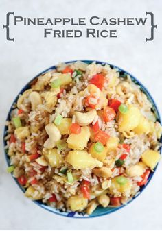 Pineapple Cashew Fried Rice – make a dinner the whole family will fall in love with!