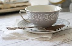 a sweet gray teacup