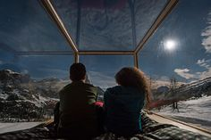 starlight room dolomites / guests enjoy a panoramic perspective of the mountainous setting