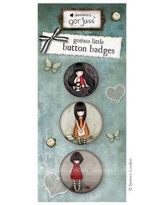 Gorjuss button badges - set 5