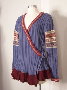 upcycled wrap sweater - Google Search