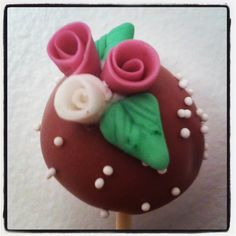 Cake pops  Baker girl NYC Mini rose ~ rosette ~ vintage ~ shabby chic