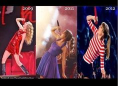 Identical poses from Taylor Swift on her past 3 tours. I saw them all & I miss the cowboy boots!