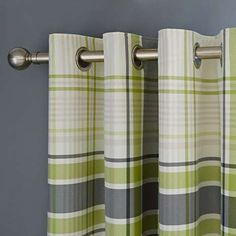 Stanley Green Eyelet Curtains
