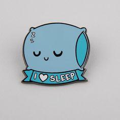I love sleep pillow enamel pin I Love Sleep, Bag Pins, Jacket Pins, Pin And Patches, Diy Patches, Cool Pins, Craft Stick Crafts, Pin Badges, Lapel Pins