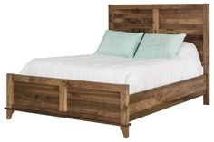 Solid wood Rustic Walnut bed frame, Amish handcrafted bedroom furniture, American made, farmhouse bed, rustic bed, five sizes available
