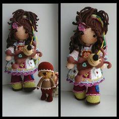 Las Razas del Mundo en Amigurumis | Otakulandia.es Crochet Doll Pattern, Crochet Dolls, Crochet Baby, Crochet Patterns, Homemade Toys, Doll Tutorial, Amigurumi Doll, Stuffed Toys Patterns, Beautiful Crochet