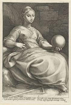 Erato, (from The Nine Muses) - Hendrick Goltzius - 1592