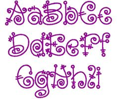 PES ONLY Fairytale Font Machine Embroidery by EmbroideredDesign, $2.90
