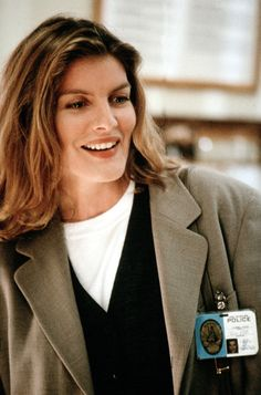 Rene Russo famous for heroine roles in action films and the love interest to action and comedy  stars like Mel Gibson, Kevin Costner, John Travolta, Dustin Hoffman, Michael Keaton, etc.