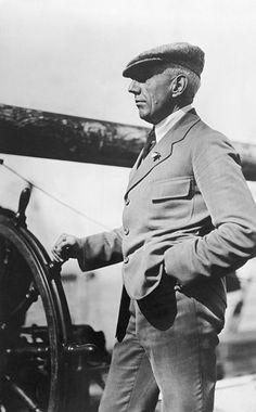 """""""Capt. Roald Amundsen at wheel leaving home for North Pole"""" #Explorer"""