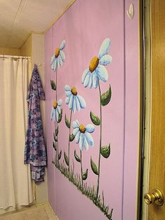13 Best Painted Flowers On Wall Images In 2016 Wall Christmas