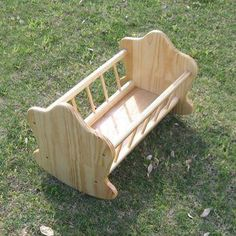 Doll& Rocking Cradle Woodworking Plan by Dave Wooden Projects, Wooden Crafts, Diy Projects, Woodworking Furniture, Woodworking Crafts, Woodworking Machinery, Youtube Woodworking, Woodworking Videos, Woodworking Plans