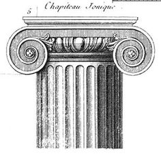 Greek column, inspired by the structure, shape and pattern. Ancient Greek Architecture, Historical Architecture, Ancient Greek Art, Ancient History, Invisible Cities, Classic Doors, Interior Sketch, House Drawing, 3 Arts