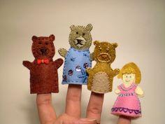 Okay Hooray! - Goldy Locks and the Three Bears Finger Puppets