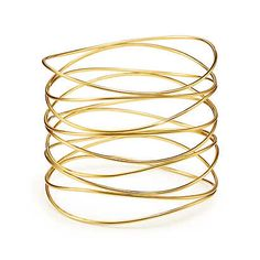 Elsa Peretti® Wave nine-row bracelet in 18k gold, medium.