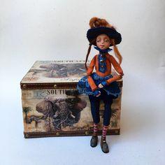 Art Doll OOAK Aleksis   Art Doll   Handmade Doll   OOAK Doll   Clay Doll Gift   Decorative Doll   Housewarming Gift  Doll   Home decoration by DovileDollart on Etsy