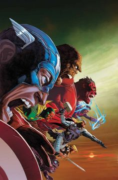 Fab cover art for the Avengers Vs X-Men by Jerome Opena Marvel Comic Character, Comic Book Characters, Marvel Characters, Comic Books Art, Comic Art, Book Art, X Men, Avengers Comics, Marvel Heroes