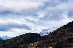 Mountain landscape - Mountain landscape in Norway, with snow caped peaks